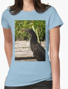 Green Heron Hoodie Womens Fitted T-Shirt