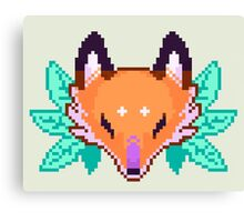 Pixel Fox Canvas Print