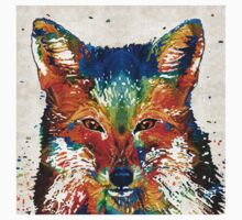 Colorful Fox Art - Foxi - By Sharon Cummings Kids Clothes