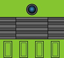 Not a robot. Green. Inspired by Daleks. by Lenka24