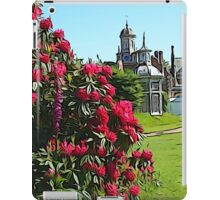 Illustrated Rhododendrons & the clock tower iPad Case/Skin