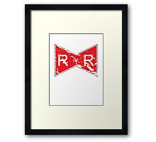 The Red Ribbon Army, Vintage Style (Dragonball) Framed Print