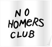 No Homers Club Poster