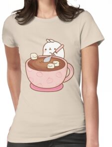 Kawaii Hot Cocoa Womens Fitted T-Shirt