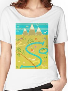 Font Mountains Women's Relaxed Fit T-Shirt