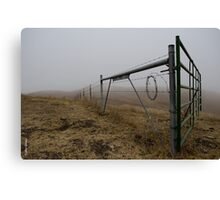 Barbed Wire Fog Canvas Print