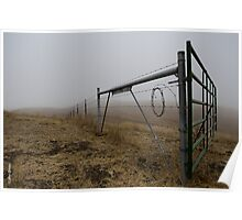 Barbed Wire Fog Poster