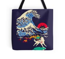 The Great Wave off Oni Island Tote Bag