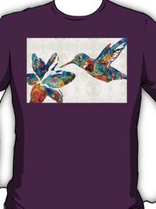 Colorful Hummingbird Art by Sharon Cummings T-Shirt