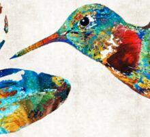 Colorful Hummingbird Art by Sharon Cummings Sticker