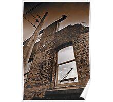 Old brick facade (duotone) Poster