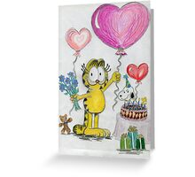 A Garfield Birthday Greeting Card