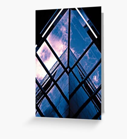 Skyscraper blues (duotone) Greeting Card