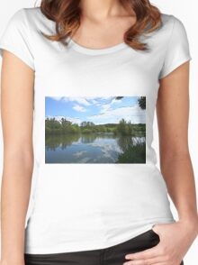 Lake view Women's Fitted Scoop T-Shirt