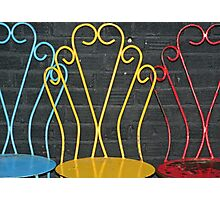 Three Chairs Photographic Print