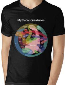 Epic Mythical Creatures Chart Mens V-Neck T-Shirt