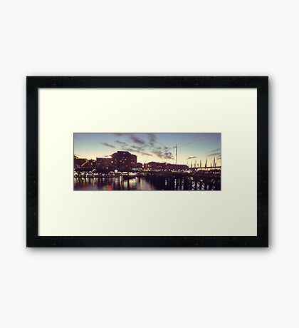 lights and music Framed Print