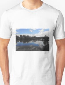 Blue skies above & below Unisex T-Shirt