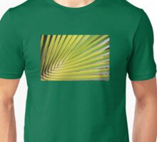 Texture of Green palm Leaf Unisex T-Shirt