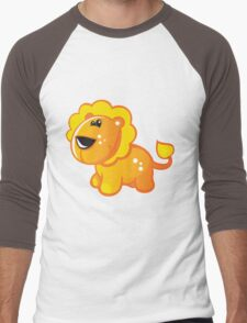 Yellow digital lion Men's Baseball ¾ T-Shirt