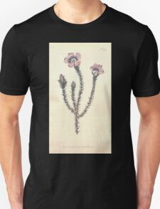 The Botanical magazine, or, Flower garden displayed by William Curtis V11 V12 1797 1798 0040 Roella Ciliata Prickly Roella Unisex T-Shirt