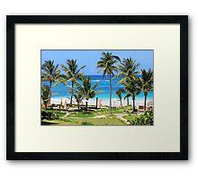 Isla Mujeres Beach Mexico Framed Print
