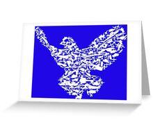 Freedom Pidgeon / Bird - Weapons illustration Greeting Card