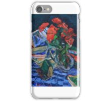 Blue Blanket Still Life iPhone Case/Skin