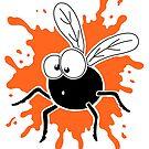 Fly Splat - Orange by Calvin Innes
