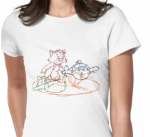 Hand drawn animation Key frames - Aristocats Womens Fitted T-Shirt