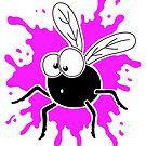 Fly Splat - Pink by Calvin Innes