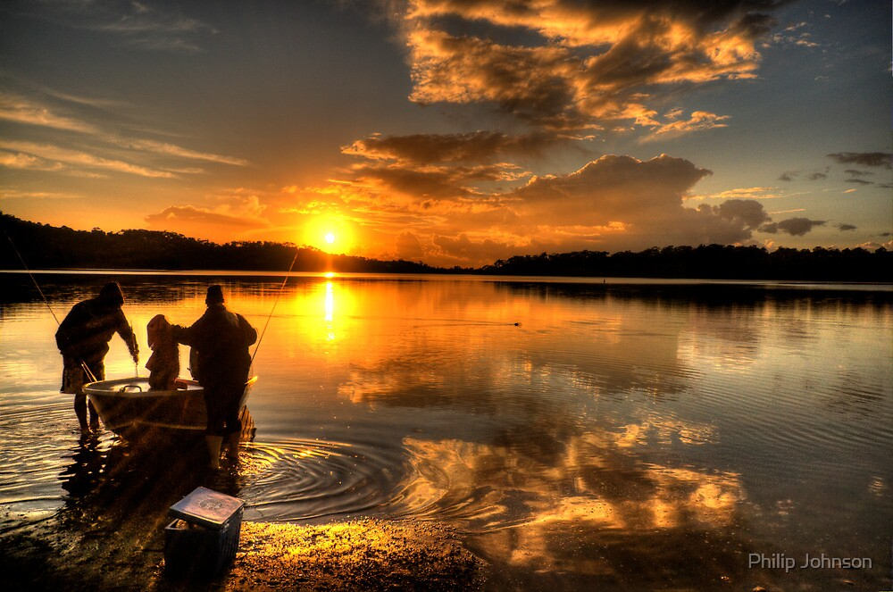 Anglers Dawn - Narrabeen Lakes,Sydney - The HDR Experience by Philip Johnson
