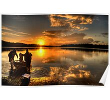 Anglers Dawn - Narrabeen Lakes,Sydney - The HDR Experience Poster