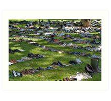 Eyes Wide Open - Civilians Shoes Art Print