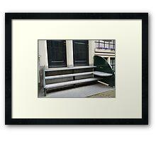 Stoop bench prototype Framed Print