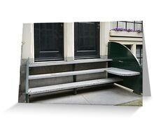 Stoop bench prototype Greeting Card