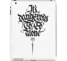 It's dangerous to go alone take this iPad Case/Skin