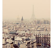 paris rooftops Photographic Print