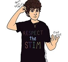 Respect the Stim - flapping and hair twirling  by Inkanddaggers