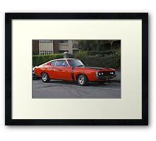 HEY CHARGER Framed Print