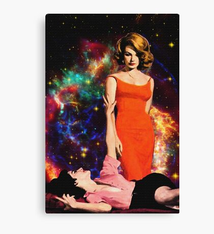 Champagne goes straight to my head Canvas Print