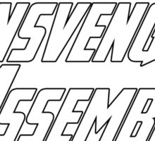 Transvengers Assemble Sticker