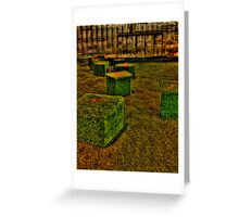 green boxes HDR Greeting Card