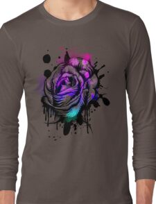 Painted Rose Tee Graphic Long Sleeve T-Shirt