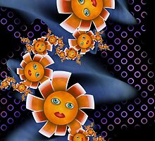 Inner Child - Baby Orange Flowers  by lacitrouille