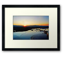 Pamukkale Sunset Framed Print