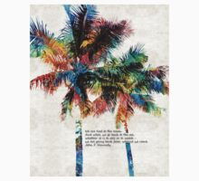 Colorful Palm Trees - Returning Home - By Sharon Cummings One Piece - Short Sleeve