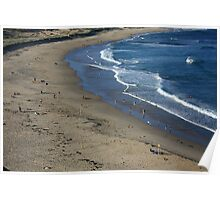 Autumn Beachscape Poster