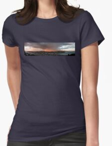 Wellington Skyscape (Rainbow, Evening light) Womens Fitted T-Shirt