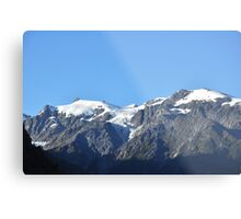 Snow capped mountains in Franz Josef New Zealand Metal Print